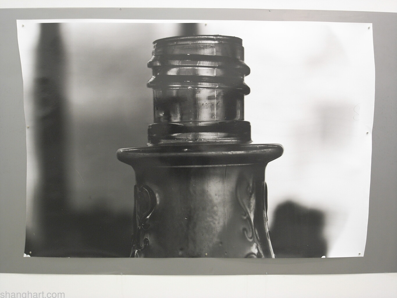 Installation view of the photography work Bottle