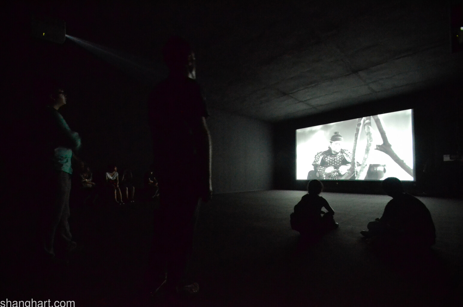 Installation view of Yang Fudong's film