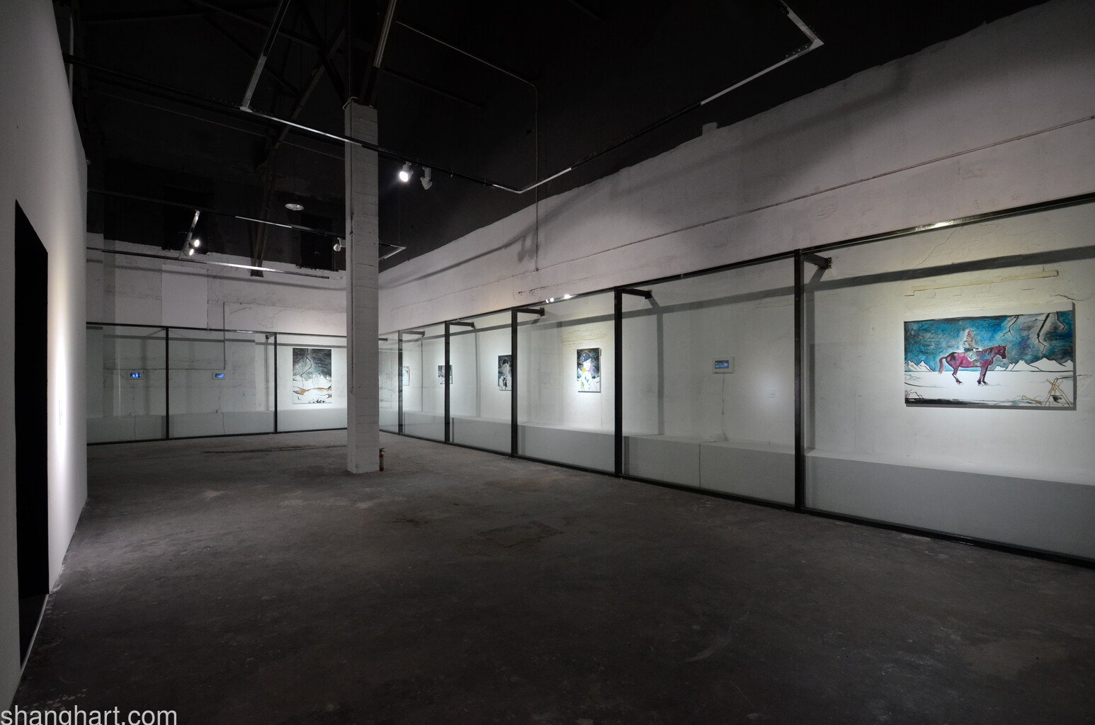 Installation view of Yang Fudong's painting works